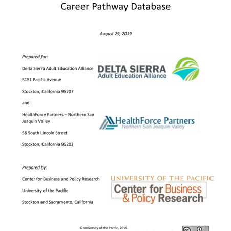 2018 NSJV Health sector employment and career pathway database