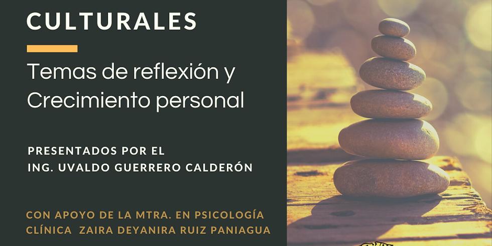Reuniones Culturales: 1. Las 3 dimensiones del ser humano PRESENCIAL Y VIRTUAL