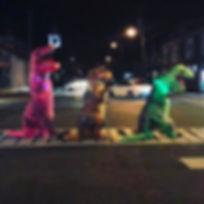 #nightonthetown #dinosaurcostume #dinosaur #trex #trexcostume #toriscritters #millvillenj #friendshi