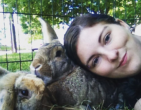 Just me and my #bunnies during our break at the critter class today in #philly.jpg