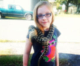 My #wonderful, #beautiful, #strong, #brave #daughter meeting our new #carpetpython. She #amazes me m