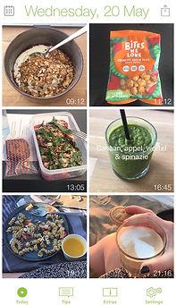 foto voedingsdagboek app feedback voedingsdagboek coach