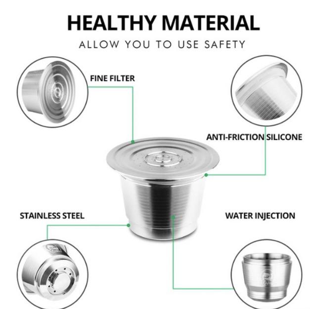 1. Herbruikbare koffie cups staal