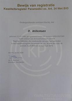 Kwaliteitsregister Paramedici Dietist Dietetiek BIG register