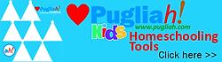 Homeschooling-Hilfsmittel aus Apulien, egal ob Sie einen Familienurlaub in Apulien planen oder gerade einen Urlaub in Apulien abgeschlossen haben, diese Malhilfen helfen beim Homeschooling, bei der Kunst- und Italienischkenntnisse.
