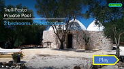 TrulliPesto trulli holidays in puglia video tour for 4 guests,, 2BR, 2BA and private pool.