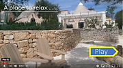 TrulliRoccia trulli holidays in puglia video tour for 6 guests, 3BR, 3BA, air conditioning and private pool.