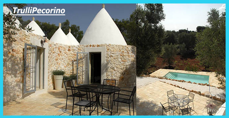 TrulliPecorino, superb 2 bedroom, 2 bathroom trulli to let, to rent, with private pool.  Lovely setting in an olive grove.