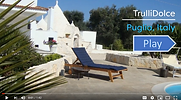 TrulliDolce trulli holidays in puglia video tour for 7 guests, 4BR, 2BA, air conditioning and private pool.