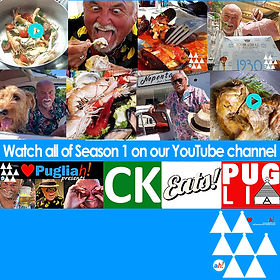"Pugliah.com presents ""CK Eats Puglia"" a culinary, sensory and visual web series tour of our favourite restaurants, gelataria and other local 'finds' in Puglia, Italy."