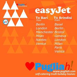 flights to Bari, flights to Brindisi, flights to Puglia, Easyjet Bari, Easyjet Brindisi, getting to Puglia, getting to Apulia, Puglia nearest airport