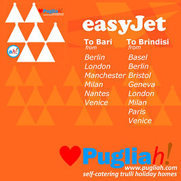 EasyJet to Bari and Brindisi