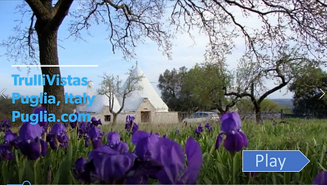 video tour of Trulli Vistas in the countryside of Ostuni Puglia Apulia south Italy trulli holidays.