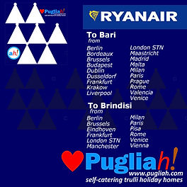Ryanair to Bari and Brindisi