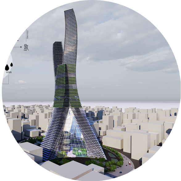 FUTURE AIR PURIFICATION TOWER PLAN FOR 2050