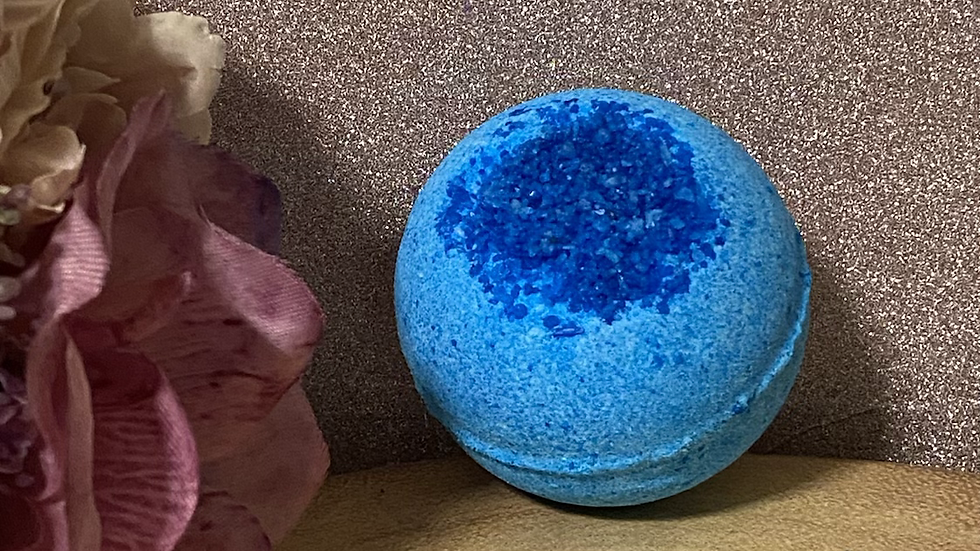 Deep Blue (Sea Breeze) Salt Bomb Sphere