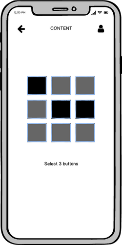 Select Three Buttons