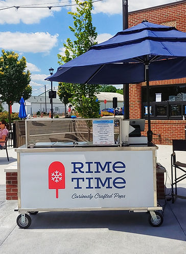 Hilliard Center Street Market Rime Time Pops Cart