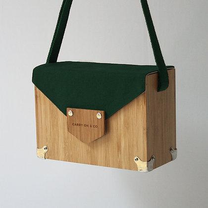 Dark Green Bamboo Box Bag
