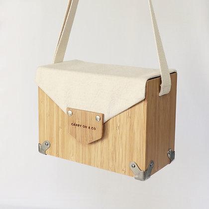 Cream Bamboo Box Bag