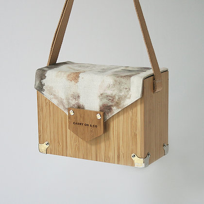 Watercolour Bamboo Box Bag