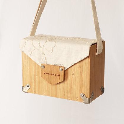 Embroidery Bamboo Box Bag