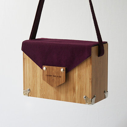 Burgundy Bamboo Box Bag