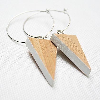 Small White Triangle Earrings