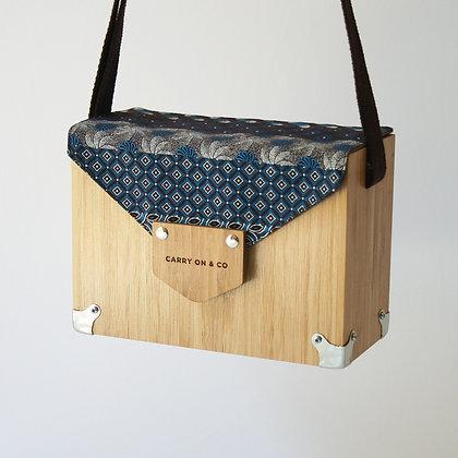Shweshwe Bamboo Box Bag