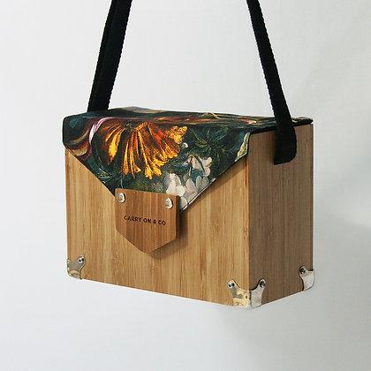 Ochre Bloom Bamboo Box Bag