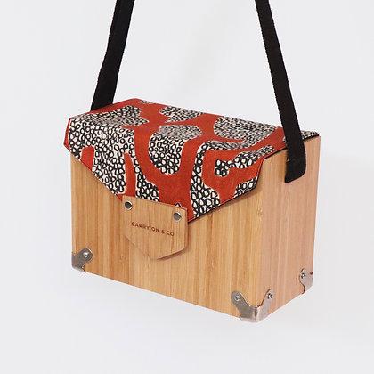 Abstract Bamboo Box Bag
