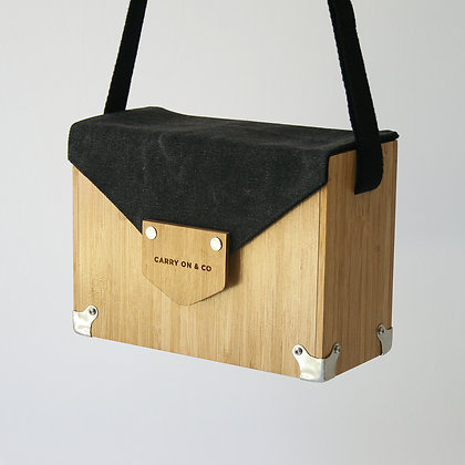 Grunge Bamboo Box Bag