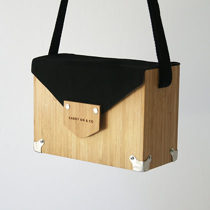 Black Bamboo Box Bag