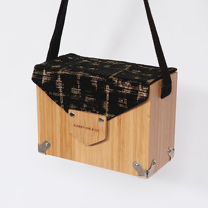 Black & Gold Bamboo Box Bag