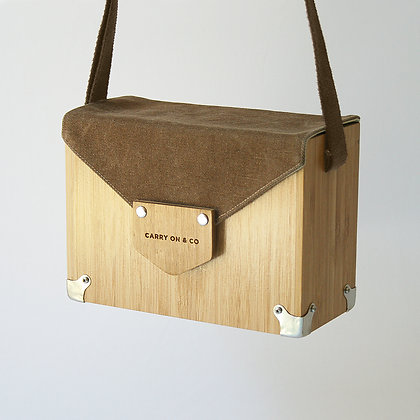 Brown Bamboo Box Bag