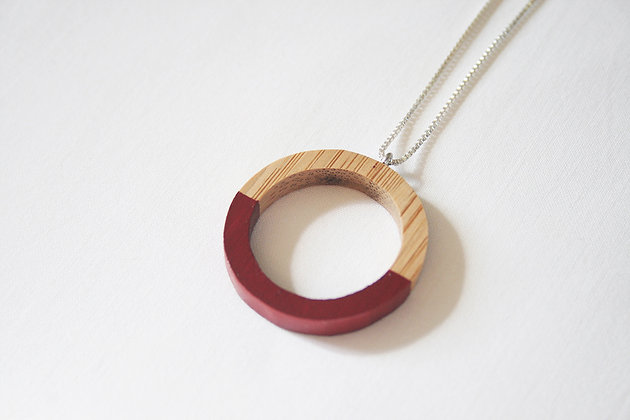 Red Hoop Pendant