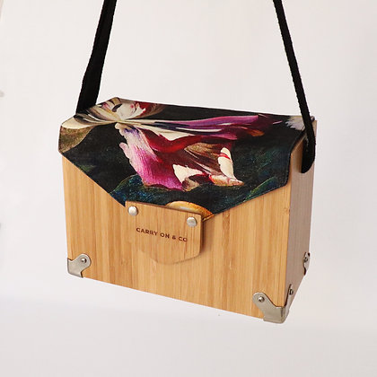 Purple Bloom Bamboo Box Bag