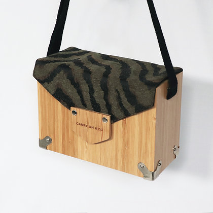 Zebra Print Bamboo Box Bag