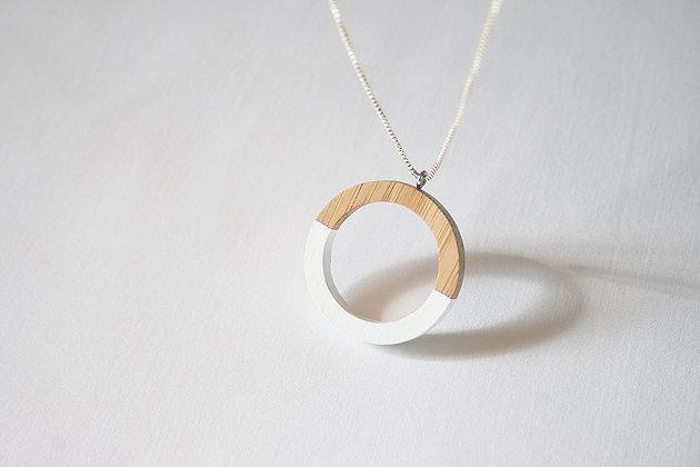 White Hoop Pendant