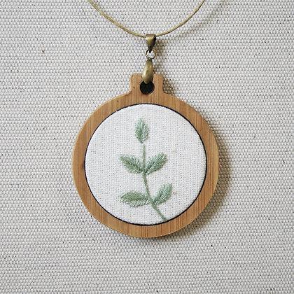 Leafy Bamboo Pendant - Pastel Green