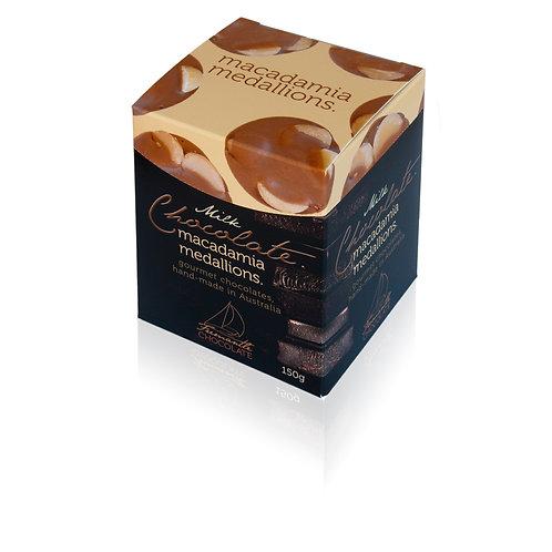 Milk Chocolate Macadamia Medallions 150g