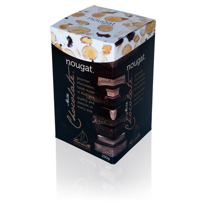 Chocolate Coated Nougat 250g