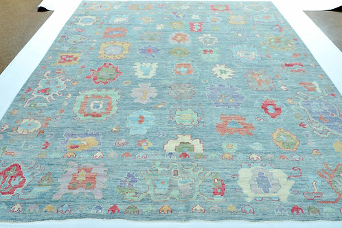 New Hand Knotted Light Blue Oushak Oriental Area Rug
