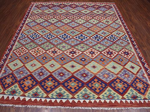 #473  Hand Woven Afghan Kilim Rug