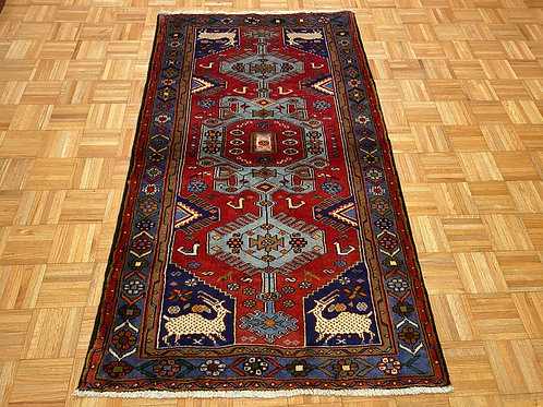 #229  New Hand Knotted Fine Persian Tribal With Deers