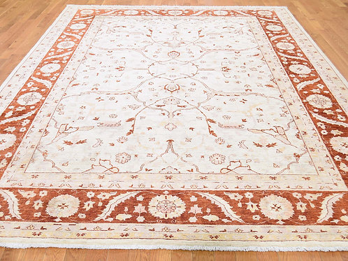 #563  Hand Knotted Peshawar Area Rug