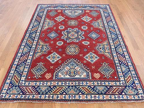 #495 Geometric Red Kazak