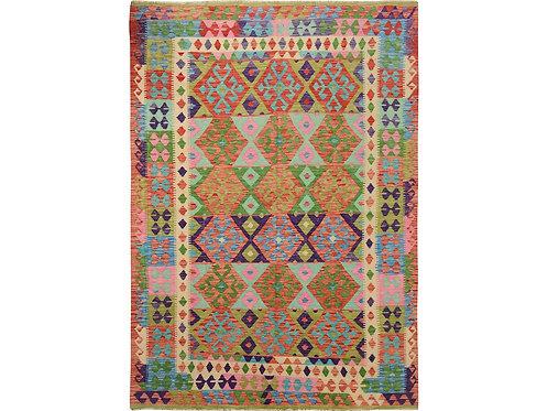 #497   Hand Woven Colorful Afghan Kilim Rug