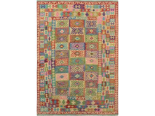 #498  Hand Woven Colorful Afghan Kilim Rug