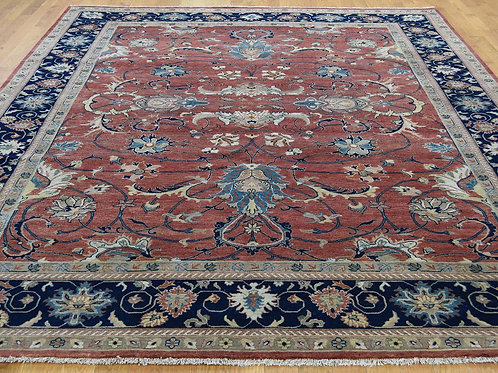 #566  Hand Knotted All Over Heriz  Oriental Rug